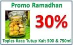 Promo Ramadhan Diskon 30% Toples Kaca Tutup Kait 500ml