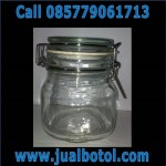 Jar / toples Kaca Tutup Kait Staniless Size 500ml