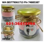 Souvenir Pernikahan Unik Botol Kaca Permen/Cokelat