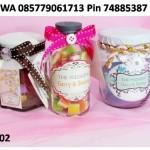 souvenir unik untuk pernikahan, botol selai plastik, botol jar murah,