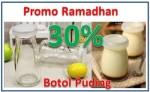 Botol Kaca Puding Unik Promo Ramadhan 30% Order 085779061713