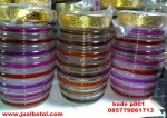 Stoples kaca motif tutup gold size 1.250ml Order 085779061713