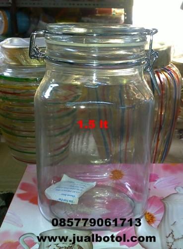 jual botol kaca, toples kaca, jual mason jar, toples kaca murah