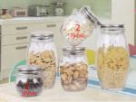 Jar Hermitico Tutup Stainless dan Kait Import 500ml