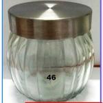 Jual botol kaca unik, jual toples kaca murah kode 46