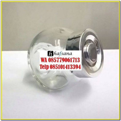 candy jar tutup silver 45 ml 1