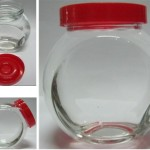 jar tutup plastik merah