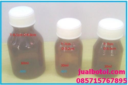 botol kaca amber 60-30ml