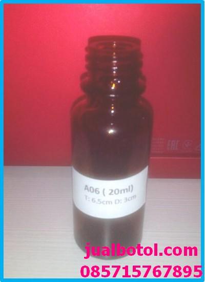 Botol Amber 20ml pipet Telp 085715767895 kode A06
