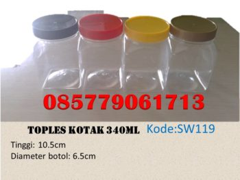 Toples Plastik kotak 340ml