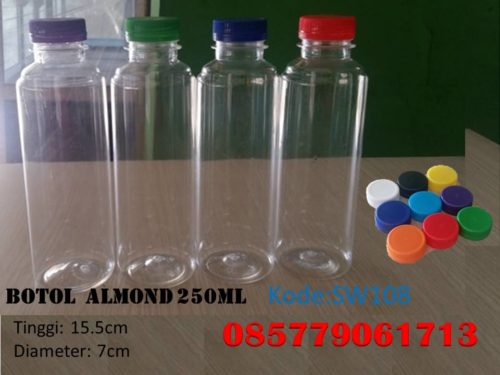 Botol Plastik almond 250ml