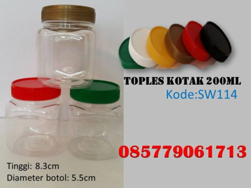 Toples Plastik kotak 200ml
