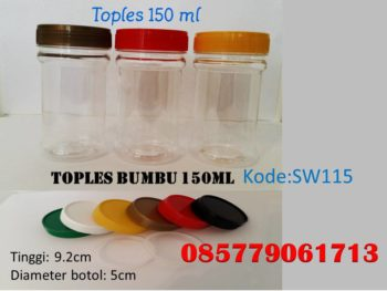 Toples Plastik bumbu 150ml