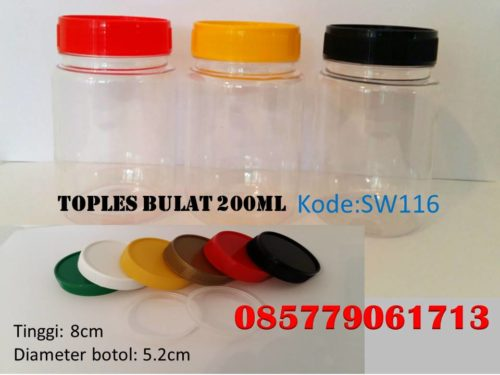 Toples Plastik bulat 200ml