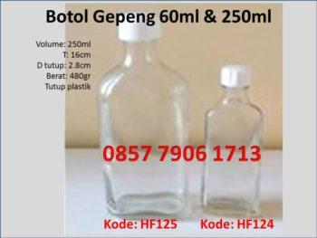 botol gepeng 250ml