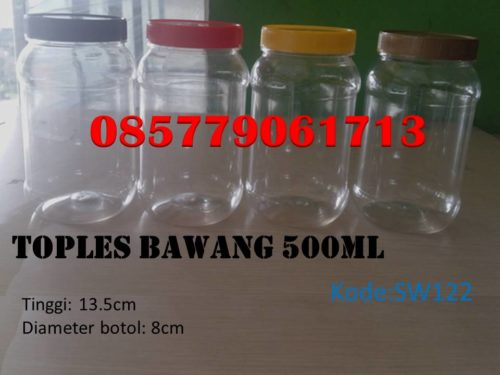 Toples Plastik bawang 500ml