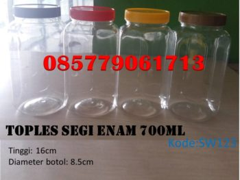 Toples Plastik segi6 700ml