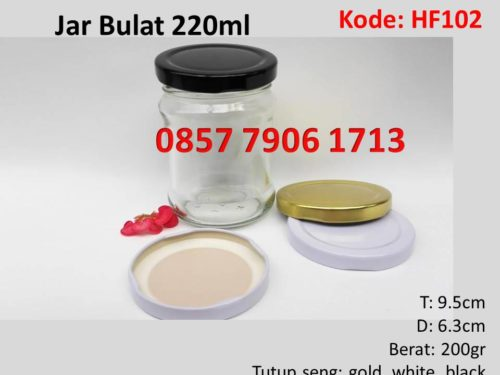 Jar Selai Madu Bulat 220ml