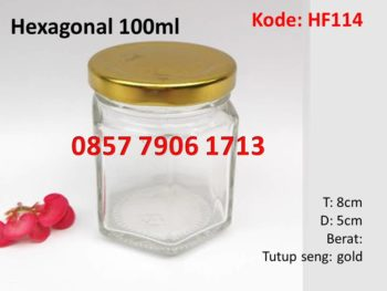 jar selai madu hexagonal 100ml