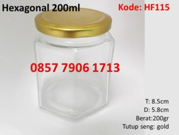 jar selai madu hexagonal 200ml
