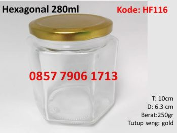 jar selai madu hexagonal 250ml