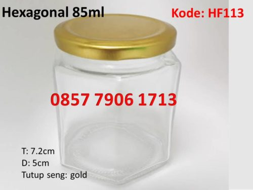 jar selai madu hexagonal 85ml