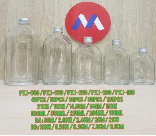 Botol Kaca Tutup Silver