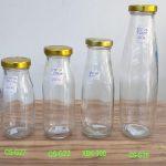 Botol Kaca Tutup Seng Gold    jual botol kaca unik