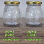Jar kaca puding tutup seng gold | Jar Kaca Jakarta Murah