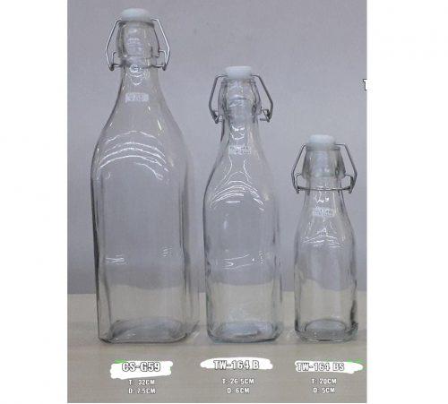 Botol Kaca Tutup Kait import