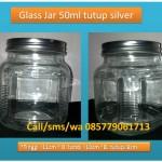 Jual Jar / Toples / kaca size 500ml Tutup Seng Silver
