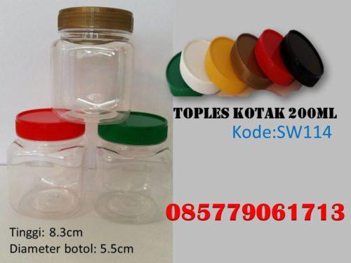 Toples Plastik kotak 200ml