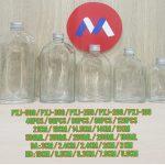 Botol Kaca Tutup Silver | jual botol sirup kaca