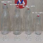 Botol Kaca Minuman import Tutup Kait | jual botol kaca 1 liter terdekat