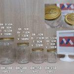 Toples kaca import tutup seng gold | jual botol kaca untuk ikan cupang