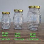 Jar Kaca Bulat Bergerigi tutup seng gold | Toples kaca murah